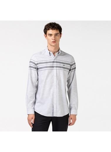 Lacoste Erkek Slim Fit Gömlek CH2175.75G Gri
